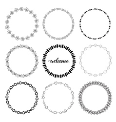 Hand drawn doodle frames decorative vector image