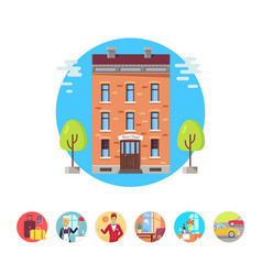 hotel services icons vector image vector image