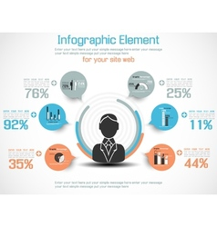 Infographic modern people business new style vector