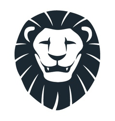 Lion head insignia vector