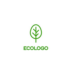 Logo green tree ecology healthsymbol of quality vector