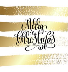 merry christmas - hand lettering quote to winter vector image vector image