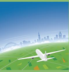 Newcastle skyline flight destination vector