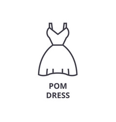 pom dress line icon outline sign linear symbol vector image vector image