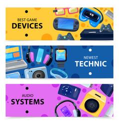 smart technics banners set vector image vector image