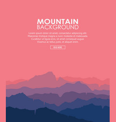 twilight in the mountains vector image