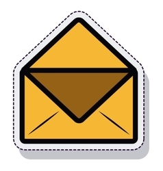 Envelope message isolated icon vector