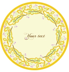 Beautiful round frame vector