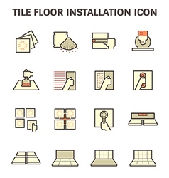 Tile floor icon red vector