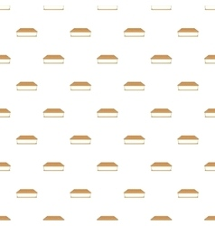 Waffle sandwich with ice cream pattern vector