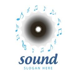 logo music club vector image