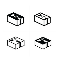 Parcel box icons set vector