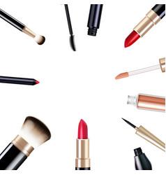 Makeup items set vector