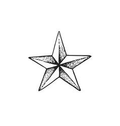Hand drawn star shape vector