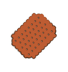 Cracker sweet snack vector