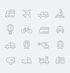 Transport thin line symbol icon vector