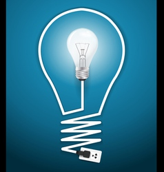 Creative light bulb abstract infographic vector
