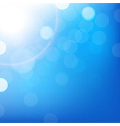Blue background with bokeh vector