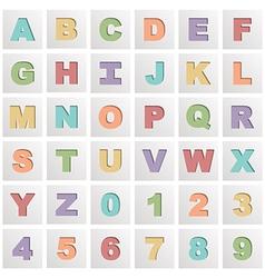 square alphabet icons vector image