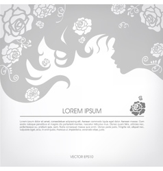Abstract silhouette of a girl with flowing hair vector