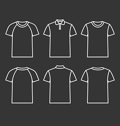 Contour icons t shirts vector