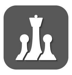 The chess icon game symbol flat vector