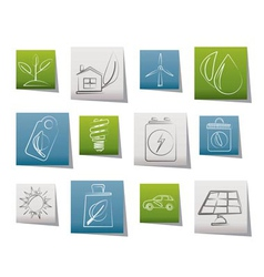 Green and environment icons vector