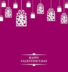 Valentine gift hang vector