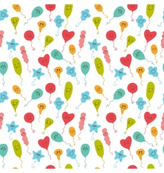 Seamless pattern with happy party balloons of vector image