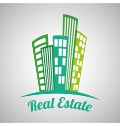 Real estate design building and city concept vector
