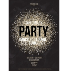 Lounge bar party poster background vector