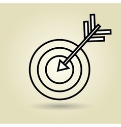 Symbol of target isolated icon design vector