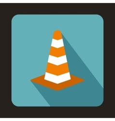 Traffic cone icon in flat style vector