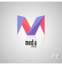 Abstract colored logo play logo media vector