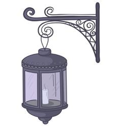 antique lantern vector image