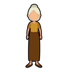 avatar grandmother cartoon vector image vector image