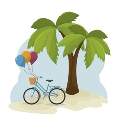 beautiful summer landscape icon vector image