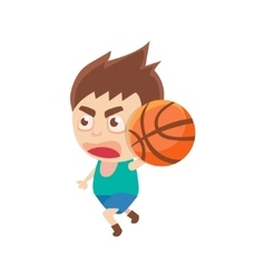 Boy sportsman playing basketball part of child vector