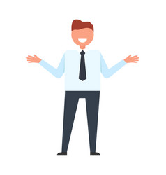 businessman throwing up his hands vector image