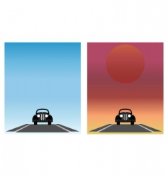car set vector image vector image