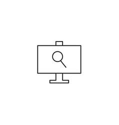 computer search icon vector image vector image