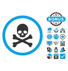 Death Flat Icon with Bonus vector image