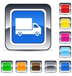 delivery square button vector image