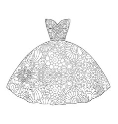Dress princess coloring vector