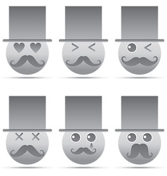 Emotion icon vector image vector image