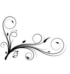 Flourish curves vector