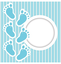 Frame with baby steps vector