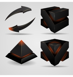 Geometric abstract futuristic gloomy gothic vector