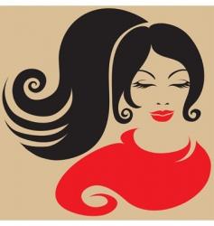 girl stencil vector image
