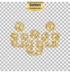 Gold glitter icon of business people vector